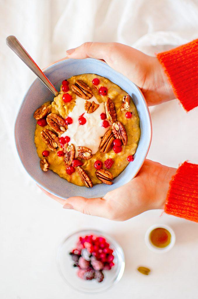 Vegan Pumpkin Pecan Pie Porridge