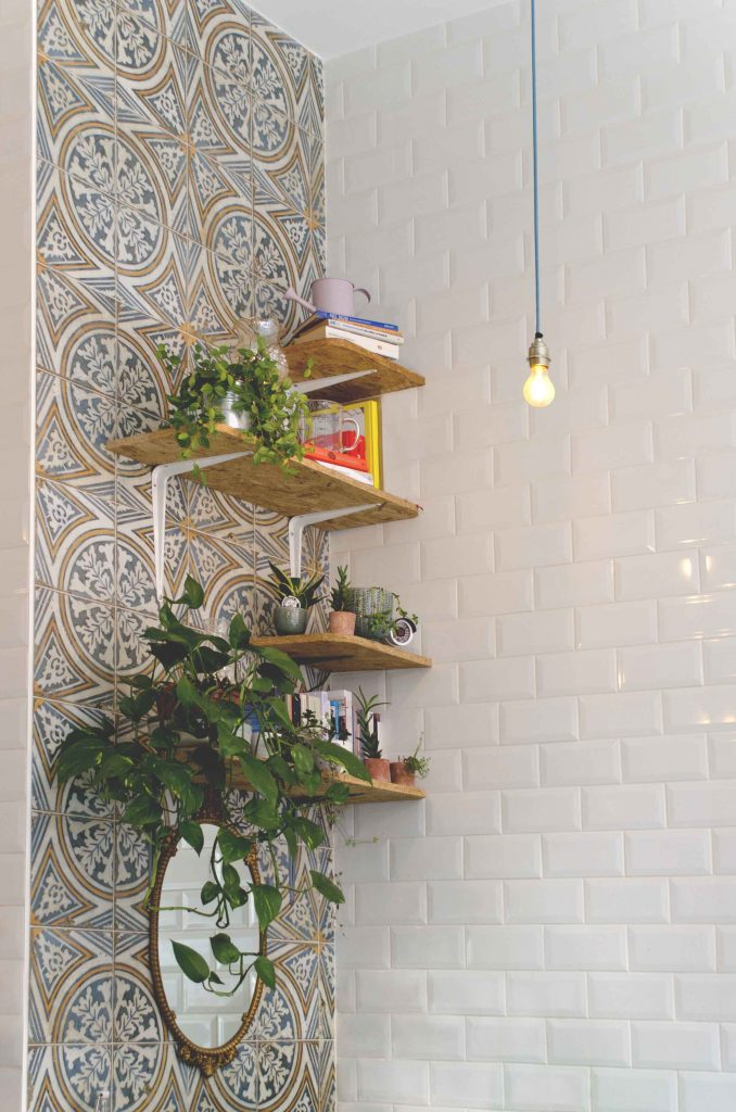 Shelves and ornaments in Lele's cafe, London