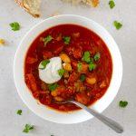 Vegan Mediterranean Tomato & Cannellini Bean Soup