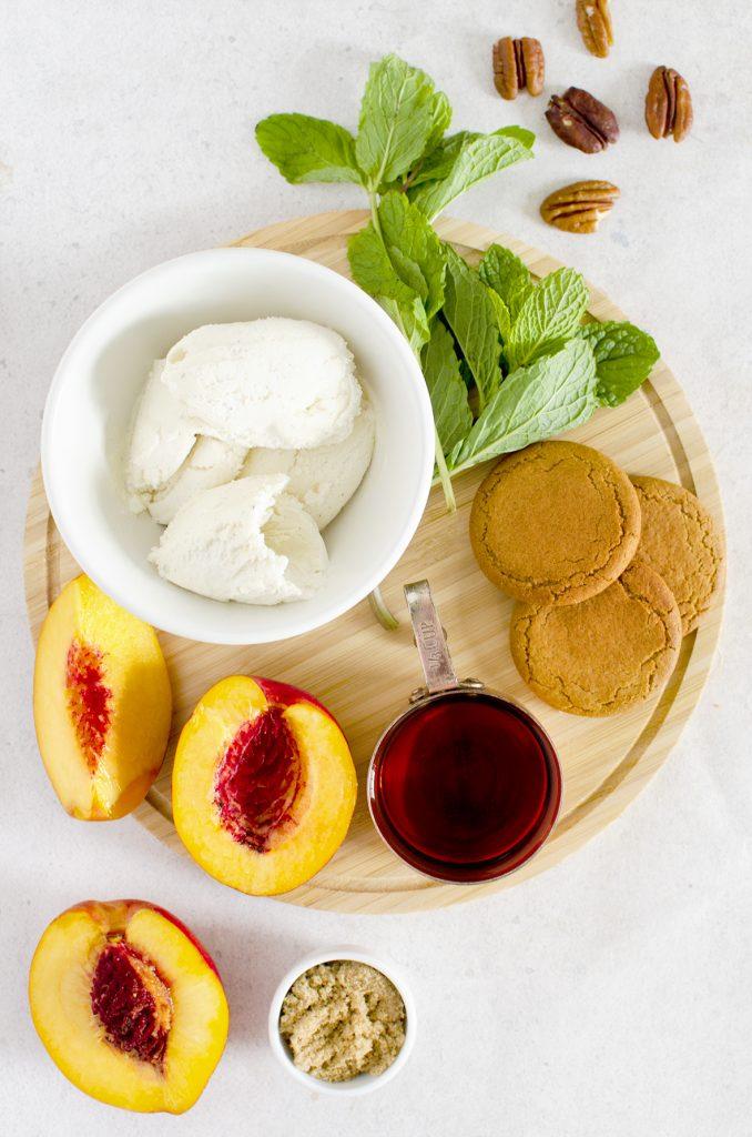 Boozy Vegan Nectarines And Ice Cream