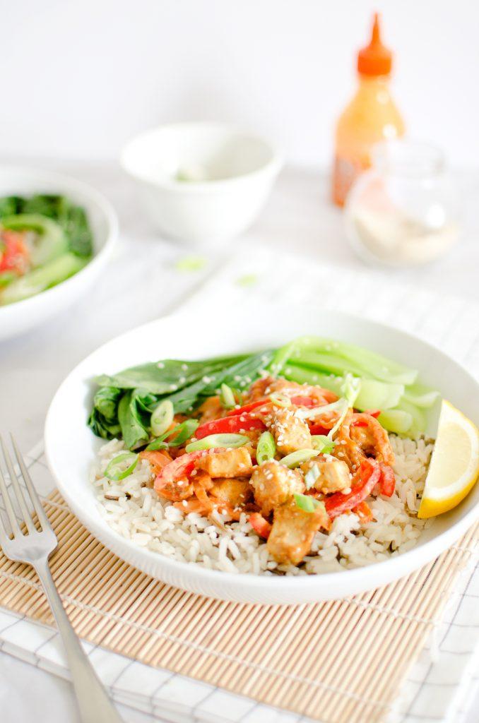 Vegan Peanut Tofu Stir Fry