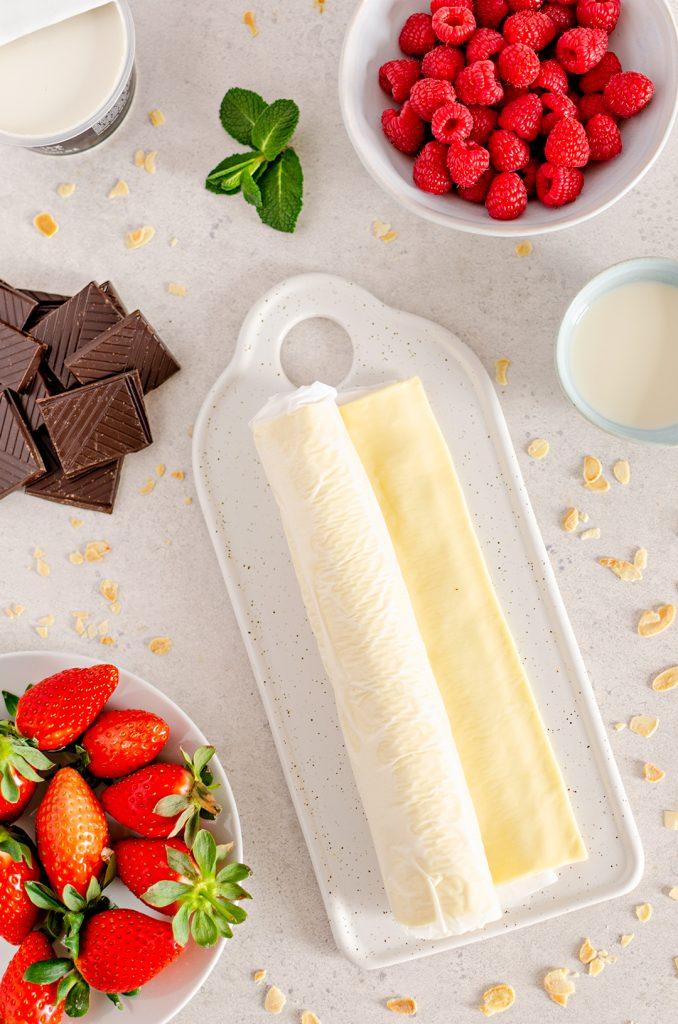 Vegan Mascarpone and Red Berry Tart