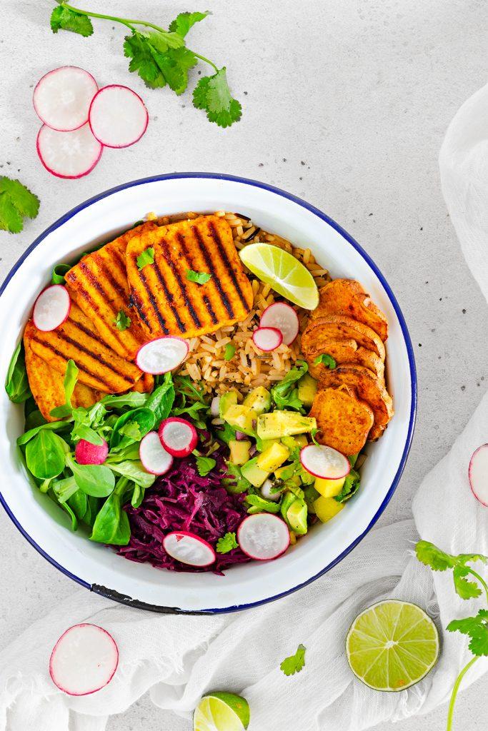 Vegan Summer BBQ Tofu Bowl