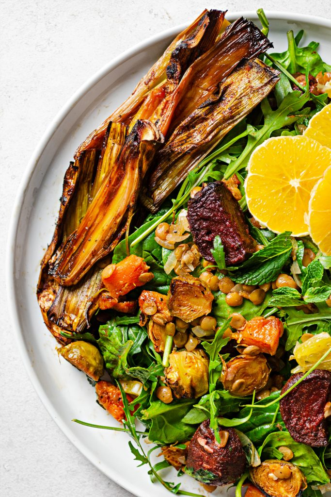 Vegan Warming Maple Roasted Winter Veg Salad