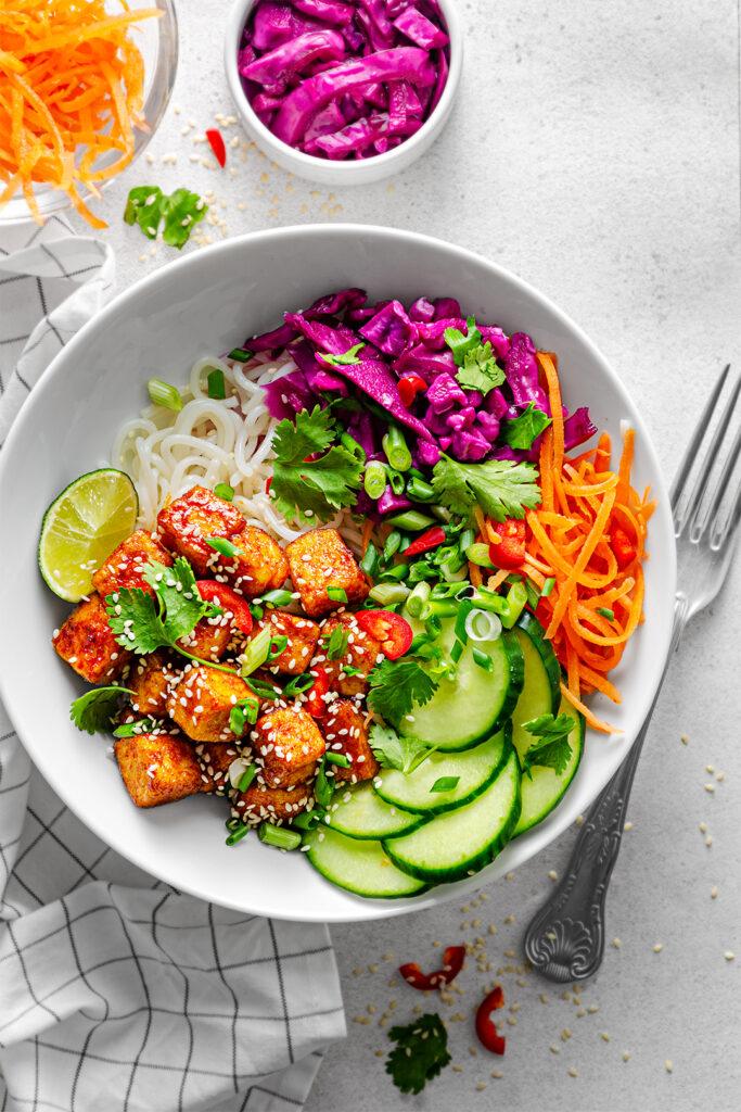 Vegan Gochujang Tofu Bowl
