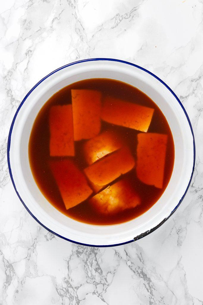 vegan marinating tofu