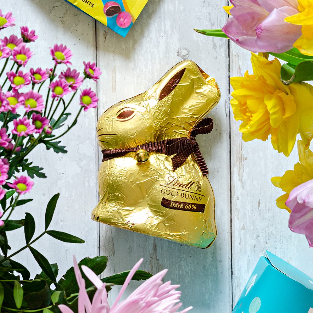 Dark chocolate easter bunny from Lindt