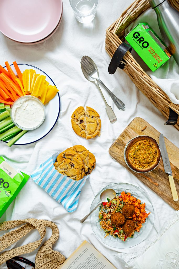 An overview of the 4 vegan items reviewed from the Co-op Gro Range